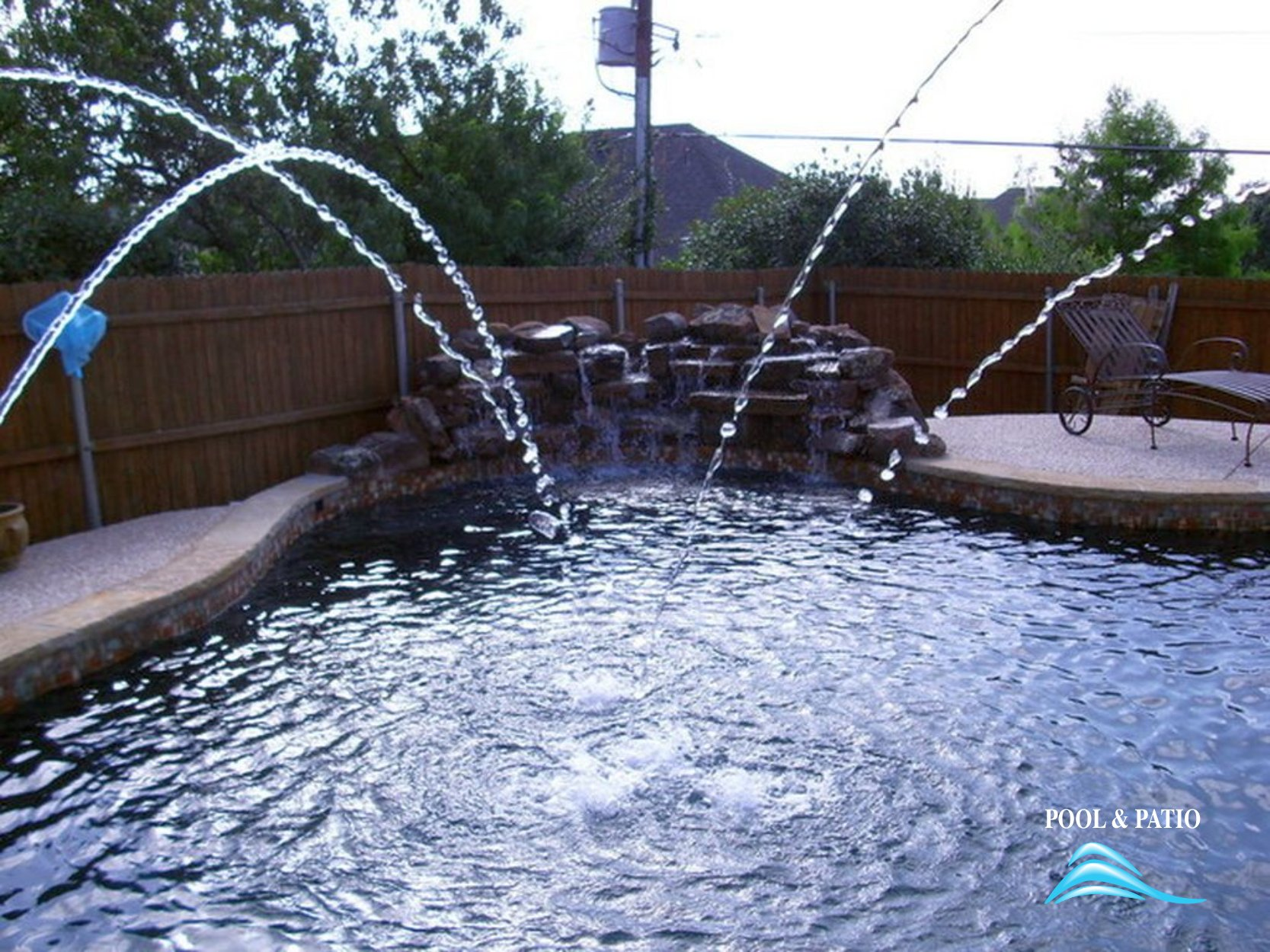 Custom Feature 001 By Pool And Patio