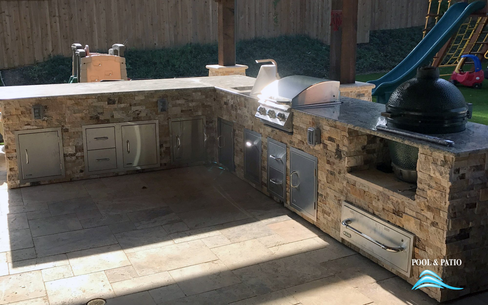 ... Outdoor Kitchen #003 By Pool And Patio ...